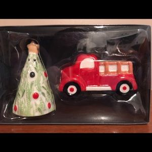 Christmas Truck and Tree Salt and Pepper Shakers